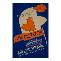 The Dictator Farce 1940 WPA Poster