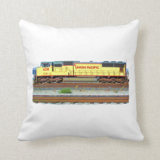 The Diesel Locomotive Throw Pillows