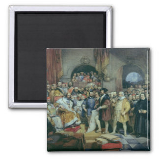 The Diet of Spires, 19 April, 1529 2 Inch Square Magnet