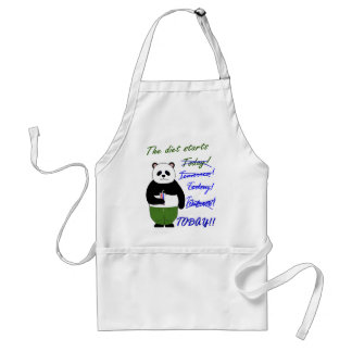 The diet starts… adult apron