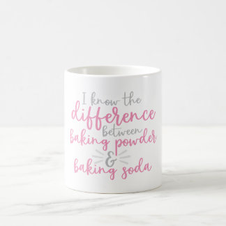 The difference between baking powder & baking soda coffee mug