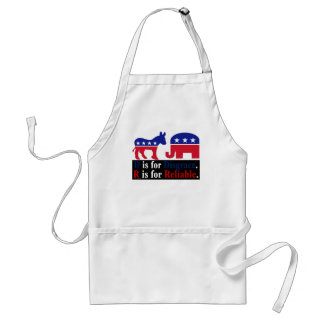 The difference between republicans and democrats 2 adult apron