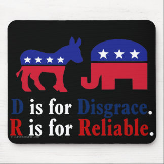 The difference between republicans and democrats 2 mouse pad