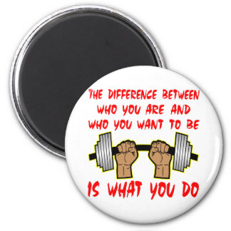 The Difference Between Who You Are And Who 2 Inch Round Magnet