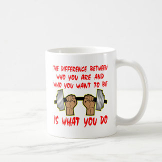 The Difference Between Who You Are And Who Coffee Mug