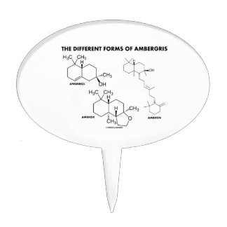 The Different Forms Of Ambergris (Molecules) Cake Topper
