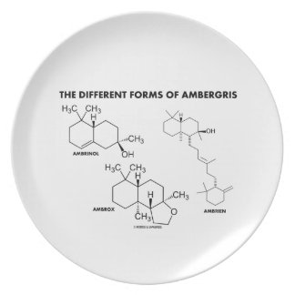 The Different Forms Of Ambergris (Molecules) Dinner Plates