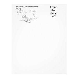 The Different Forms Of Ambergris (Molecules) Letterhead