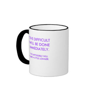 THE DIFFICULT COFFEE MUGS