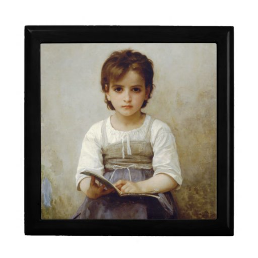 """""""The Difficult Lesson"""" William Bouguereau GIft Box"""
