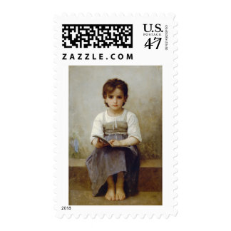 """The Difficult Lesson"" William Bouguereau Stamps"