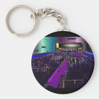 The Digital Terminal Basic Round Button Keychain