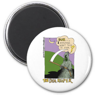 The Dim Reaper Funny Halloween Cartoon Gifts & Tee Magnet