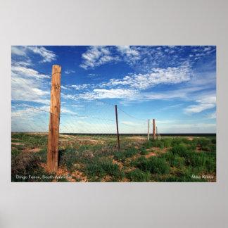 The Dingo Fence, Coober Pedy, Australia Poster