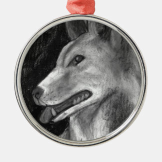The Dingo Silver-Colored Round Decoration