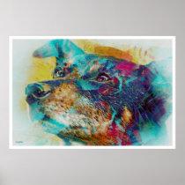artsprojekt, dingo, wonderdog, dreams, portrait, Cartaz/impressão com design gráfico personalizado