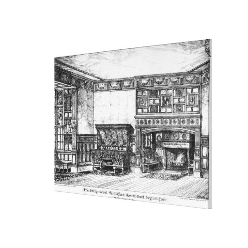 The Dining Room at the Poplars Canvas Print