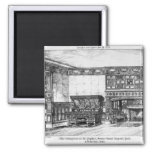 The Dining Room at the Poplars 2 Inch Square Magnet