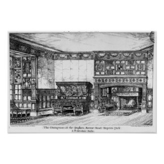 The Dining Room at the Poplars Print