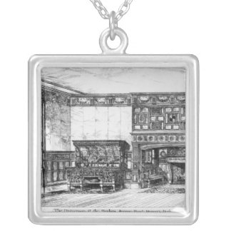 The Dining Room at the Poplars Silver Plated Necklace