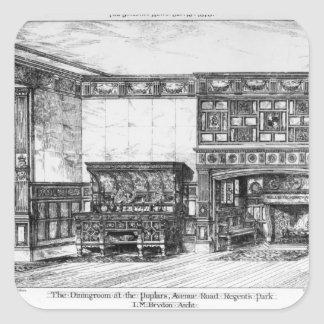 The Dining Room at the Poplars Square Sticker