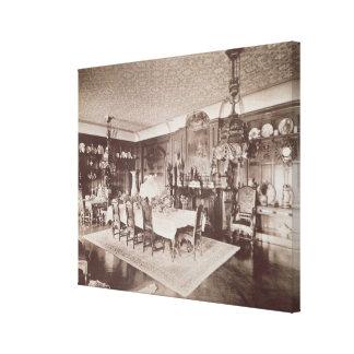 The Dining Room Wickham Hall Kent 1897 Canvas Prints