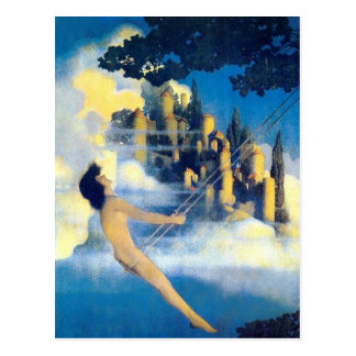 The Dinky Bird, Maxfield Parrish Postcard