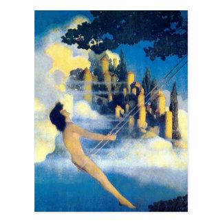 The Dinky Bird, Maxfield Parrish Postcard
