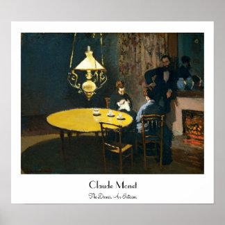 The Dinner, An Interior Claude Monet Poster