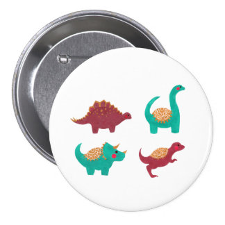 The Dinosaurs 3 Inch Round Button