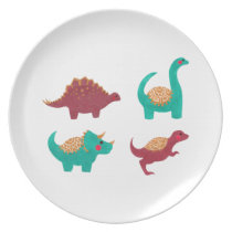 The Dinosaurs Pattern Dinner Plate