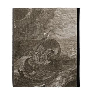 The Dioscuri Protect a Ship, 1731 (engraving) iPad Folio Covers