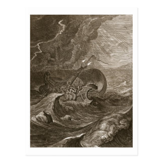 The Dioscuri Protect a Ship, 1731 (engraving) Postcard