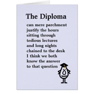 The Diploma Greeting Card