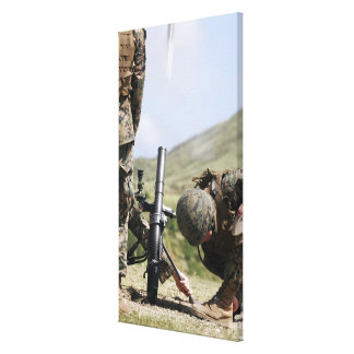 The direct-lay method of firing mortars canvas print