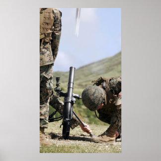 The direct-lay method of firing mortars print