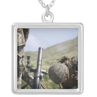 The direct-lay method of firing mortars square pendant necklace