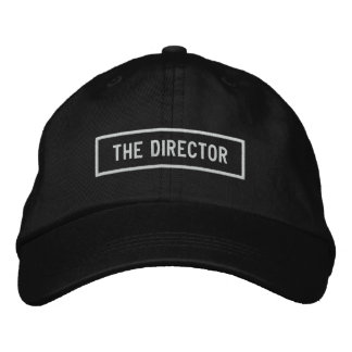 The Director Headline Embroidery Embroidered Baseball Cap