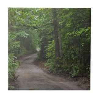 The Dirt Road in summer Ceramic Tile