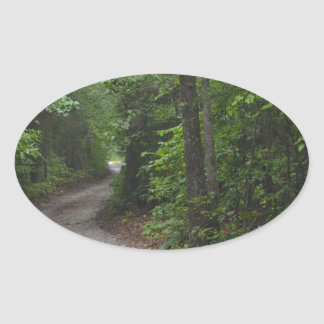 The Dirt Road in summer Oval Sticker
