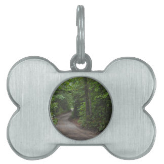 The Dirt Road in summer Pet Name Tag
