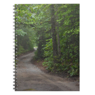 The Dirt Road in summer Spiral Notebook
