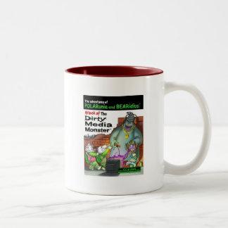 The Dirty Media Monster Two-Tone Coffee Mug