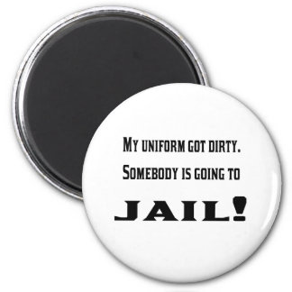 The dirty uniform 2 inch round magnet
