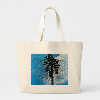 The Disappearance of Landlines Large Tote Bag
