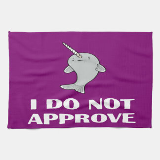 The disapproving Narwhal Hand Towel