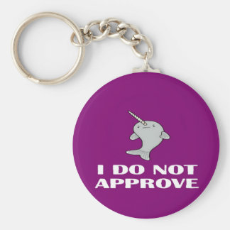 The disapproving Narwhal Keychain