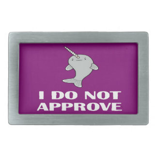 The disapproving Narwhal Rectangular Belt Buckle