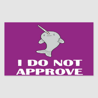 The disapproving Narwhal Rectangular Sticker
