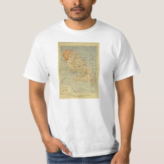The Disaster of Saint Pierre Map of Martinique T Shirt